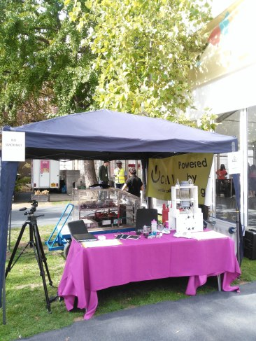 Our stall looking lovely and bright in the sunshine!